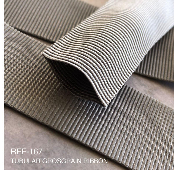 New Item : REF-167  TUBULAR GROSGRAIN RIBBON