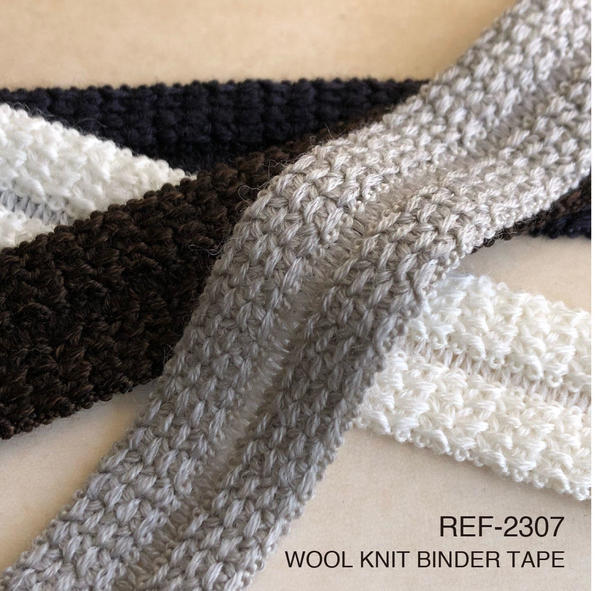 New Item : REF-2307   WOOL KNIT BINDER TAPE