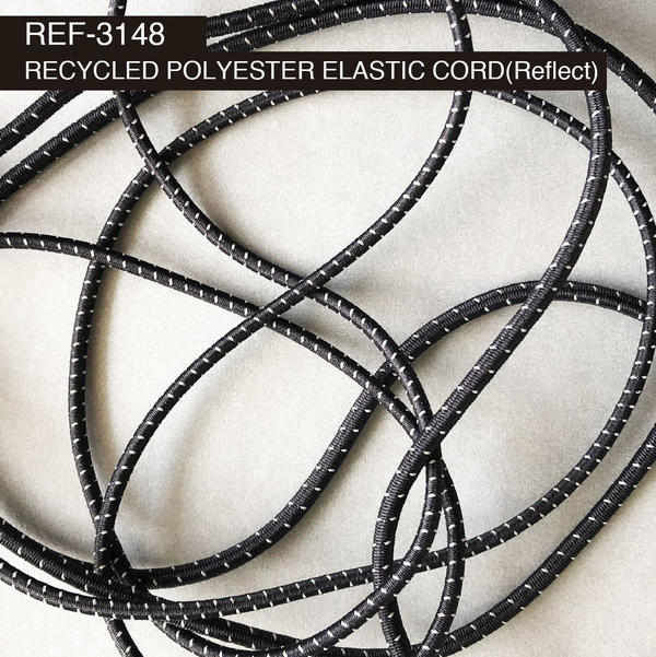 New Item : REF-3148  / RECYCLED POLYESTER ELASTIC CORD(Reflect)