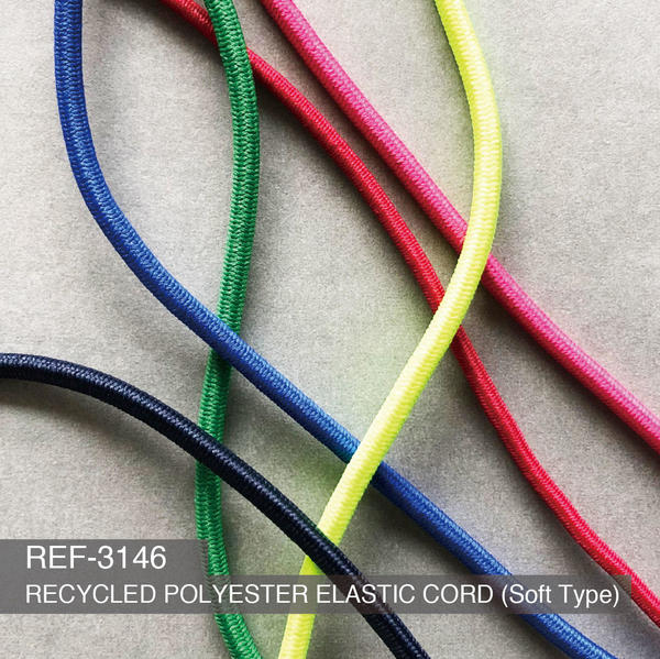 New Item : REF-3146  / RECYCLED POLYESTER ELASTIC CORD (Soft Type)
