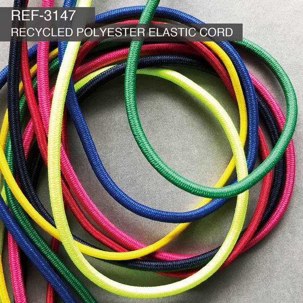 New Item : REF-3147  / RECYCLED POLYESTER ELASTIC CORD  (Hard Type)