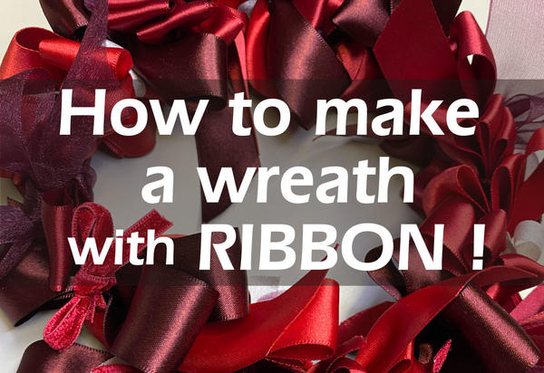 How to make a wreath with RIBBON!