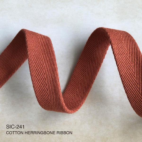 New Item : SIC-241  / COTTON HERRINGBONE RIBBON (Tubular)