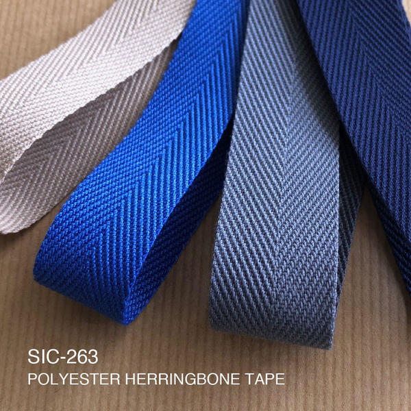 New Item : SIC-263 / POLYESTER SPUN HERRINGBONE TAPE
