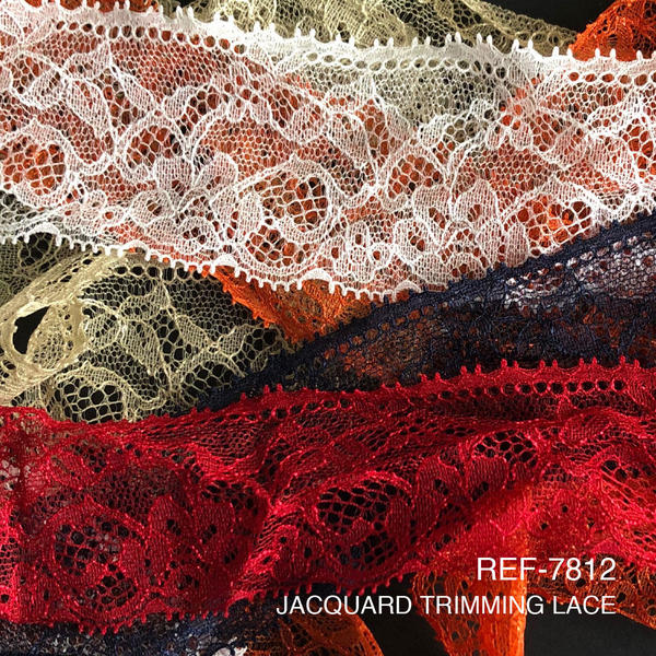 New Item : REF-7812 / JACQUARD TRIMMING LACE