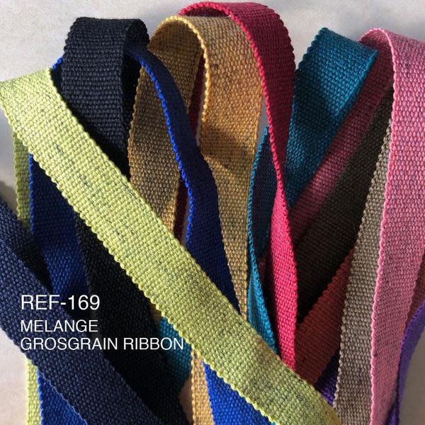 New Item : REF-169/ MÉLANGE GROSGRAIN RIBBON (NEW COLORS)