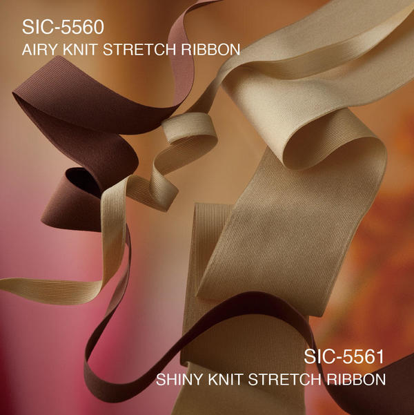 S.I.C. Item : SIC-5560 / AIRY KNIT STRETCH RIBBON , SIC-5561/ SHINY KNIT STRETCH RIBBON