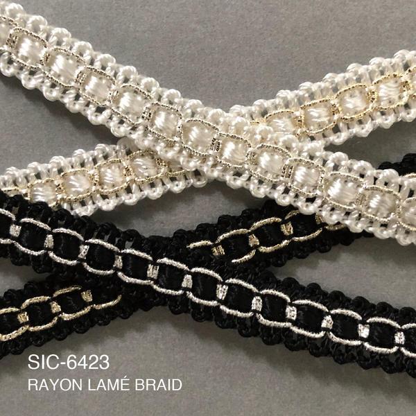 New Item : SIC-6423 / RAYON LAMÉ BRAID