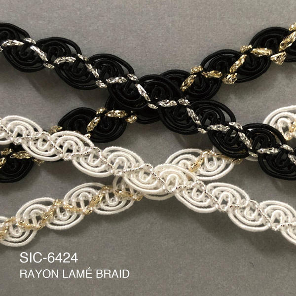 New Item : SIC-6424 / RAYON LAMÉ BRAID