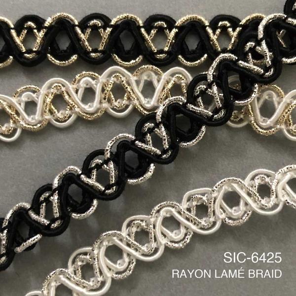 New Item : SIC-6425 / RAYON LAMÉ BRAID