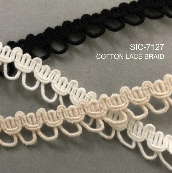 New Item : SIC-7127 / COTTON LACE BRAID