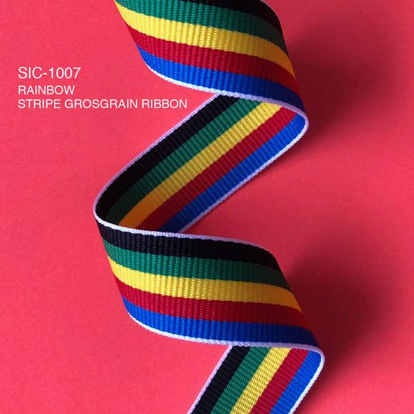 S.I.C.商品のご紹介/SIC-1007  レインボーストライプグログランリボン